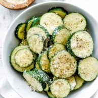 Easy 5-Minute Parmesan Zucchini | foodiecrush.com