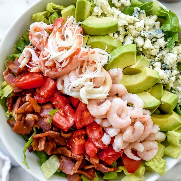 Shrimp and Crab Seafood Cobb Salad | foodiecrush.com