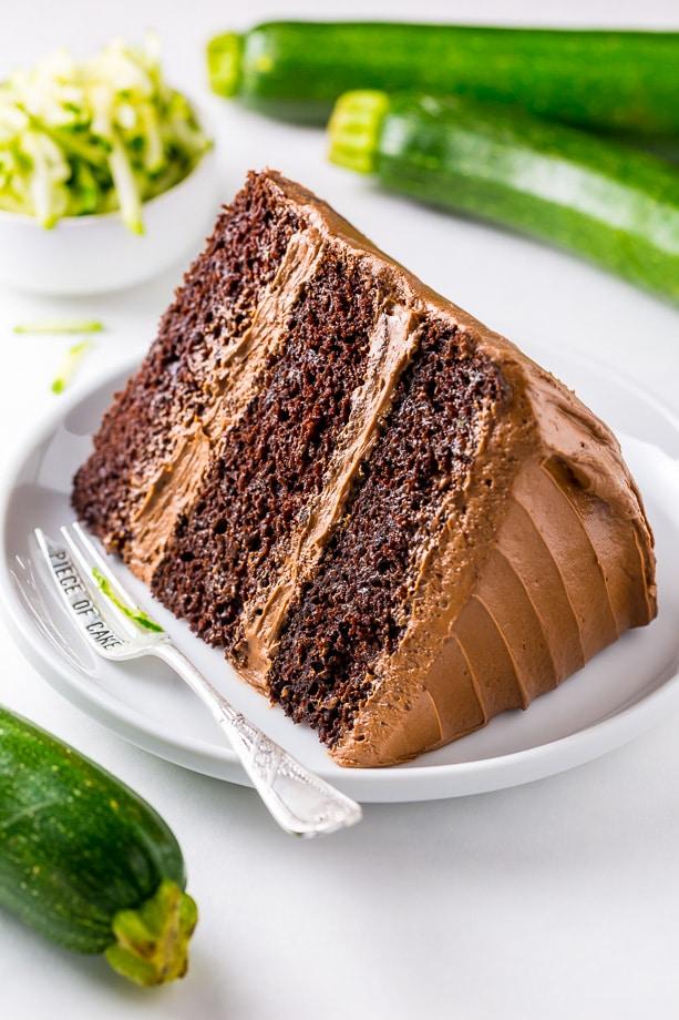 Chocolate Zucchini Cake from bakerbynature.com on foodiecrush.com