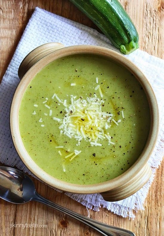 Cream of Zucchini Soup from skinnytaste.com on foodiecrush.com