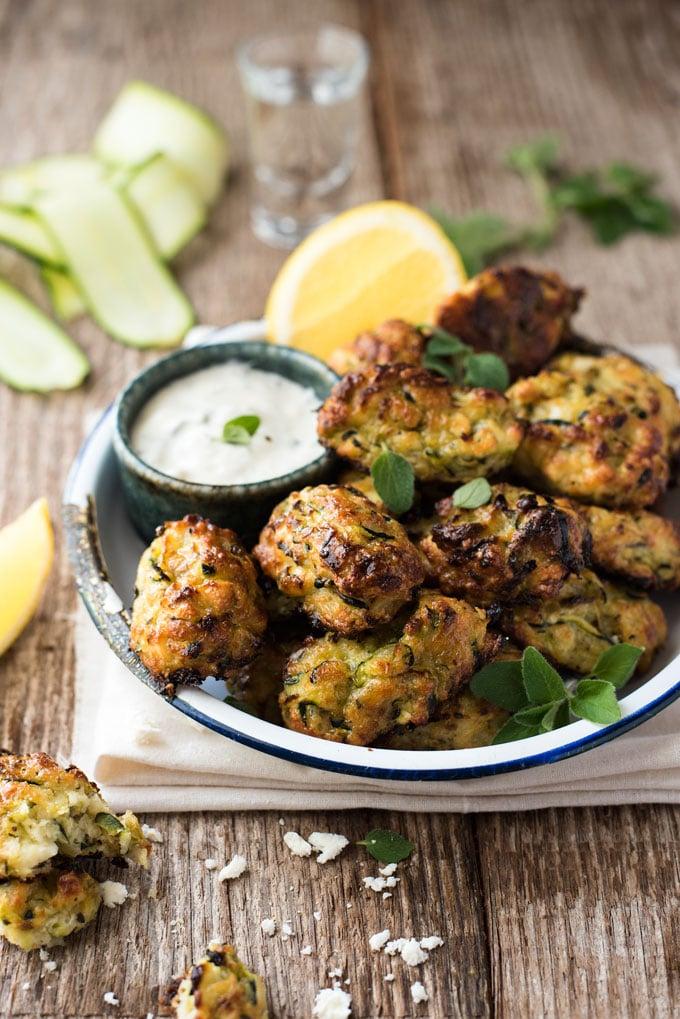 Greek Zucchini Tots from recipetineats.com on foodiecrush.com