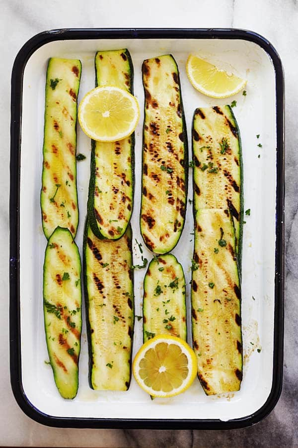 Grilled Lemon Butter Zucchini from rasamalyasia.com on foodiecrush.com