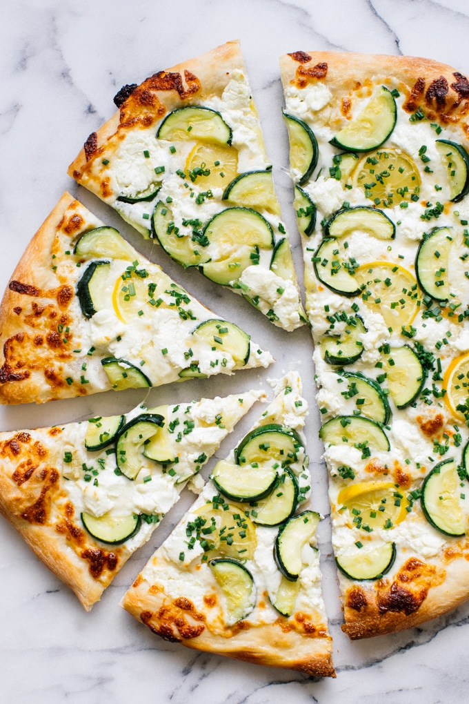 Zucchini Pizza from kitchenkonfidence.com on foodiecrush.com