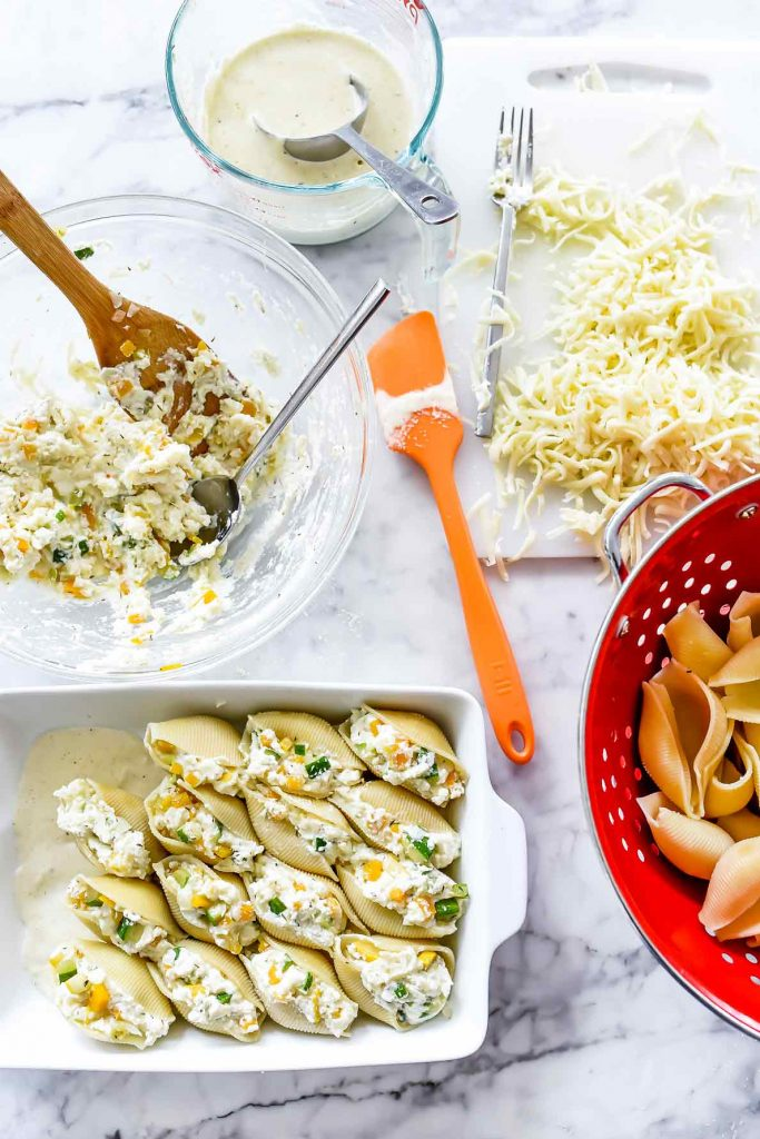 Harvest Squash and Ricotta Stuffed Shells Pasta recipe | foodiecrush.com