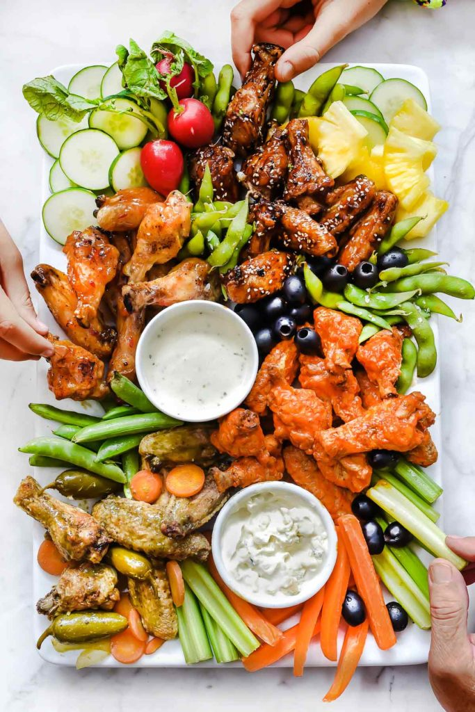 Oven Baked Chicken Wings 4 Wing Sauce Recipes Foodiecrush Com