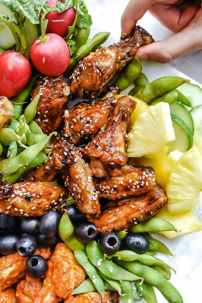 Baked Sweet Sesame Chicken Wings | foodiecrush.com #baked #chicken #wings #teriyaki #sesame #recipe