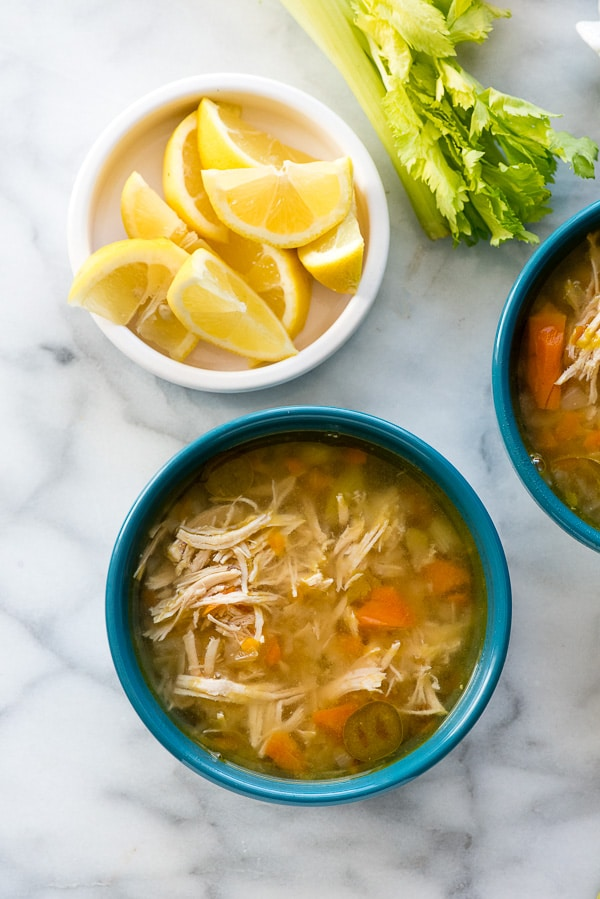 Instant Pot Hearty Chicken Soup from boulderlocavore.com on foodiecrush.com