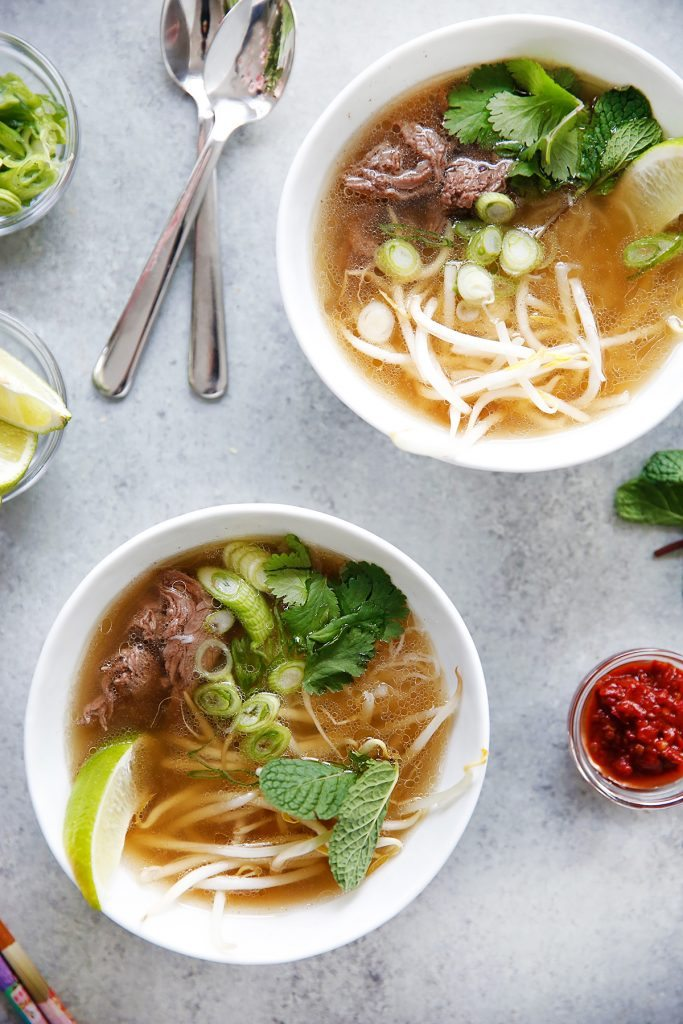 Instant Pot Pho from lexiscleankitchen.com on foodiecrush.com