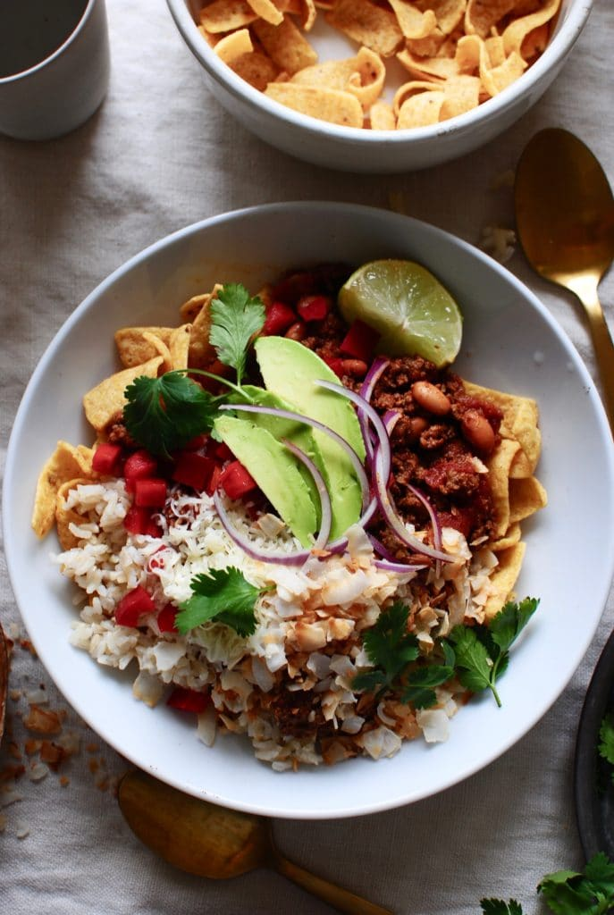 Mexican Fiesta Bowls from bevcooks.com on foodiecrush.com