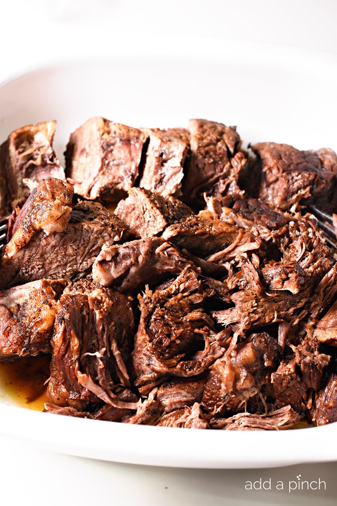 Pressure Cooker Balsamic Roast Beef from addapinch.com on foodiecrush.com