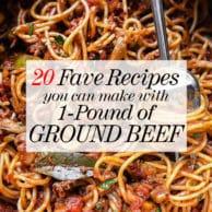 20 Favorite Ground Beef Recipes foodiecrush.com #hamburger #ground #beef #dinner #recipe