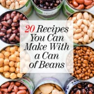 20 Recipes You Can Make With a Can of Beans | foodiecrush.com #beans #dinner #recipes