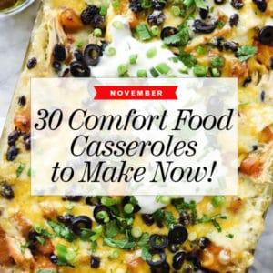 30 Easy Comfort Food Casseroles to Make Now | foodiecrush.com #comfortfood #dinner #casserole #food #recipe