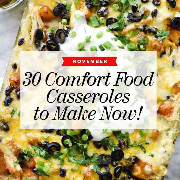 30 Easy Comfort Food Casseroles to Make Now | foodiecrush.com #comfortfood #dinner #casserole #food #recipe