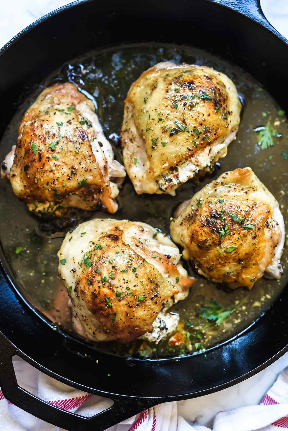 Stuffed Chicken Thighs With Spinach And Goat Cheese