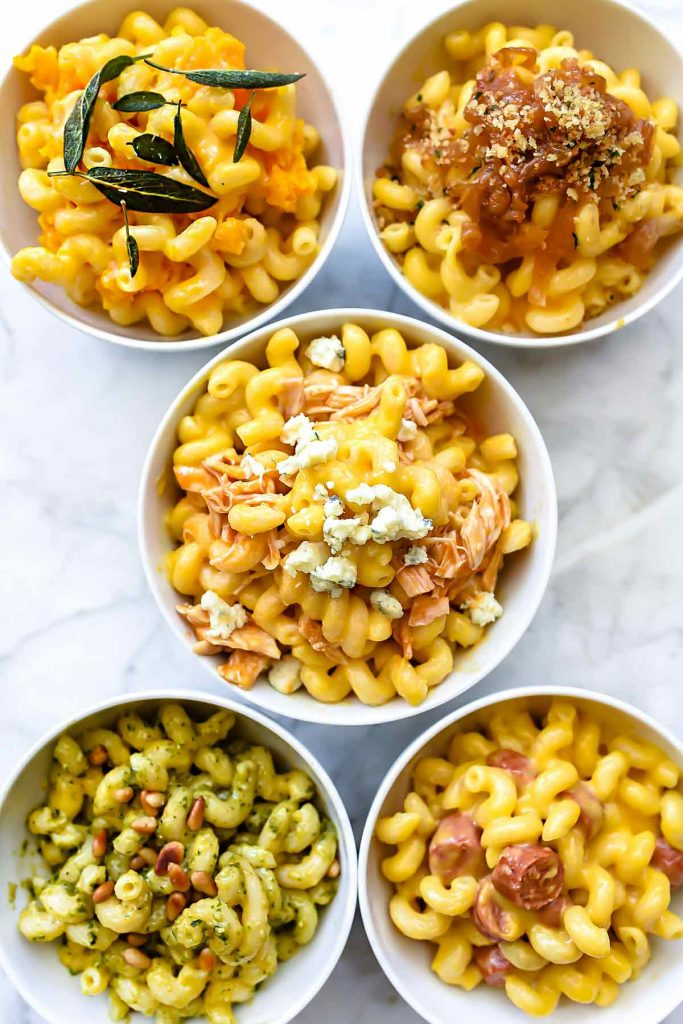 Instant Pot Macaroni and Cheese Five Ways | foodiecrush.com #macaroniandcheese #macaroni #pasta #cheese #comfortfood #recipes #dinnertime