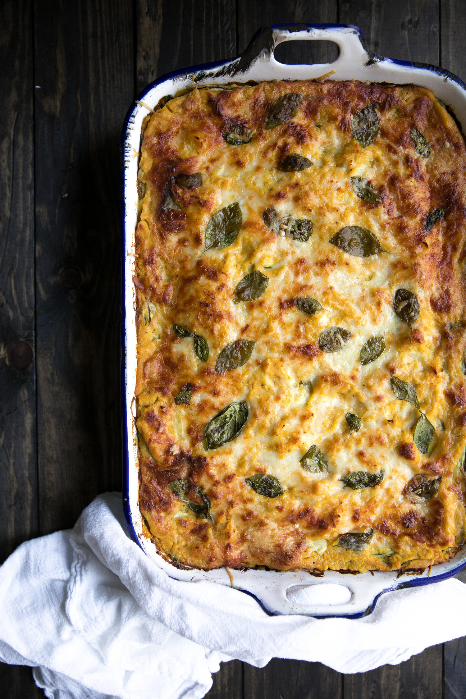 Butternut Squash, Zucchini and Spinach Lasagna from coffeeandcrayons.net on foodiecrush.com
