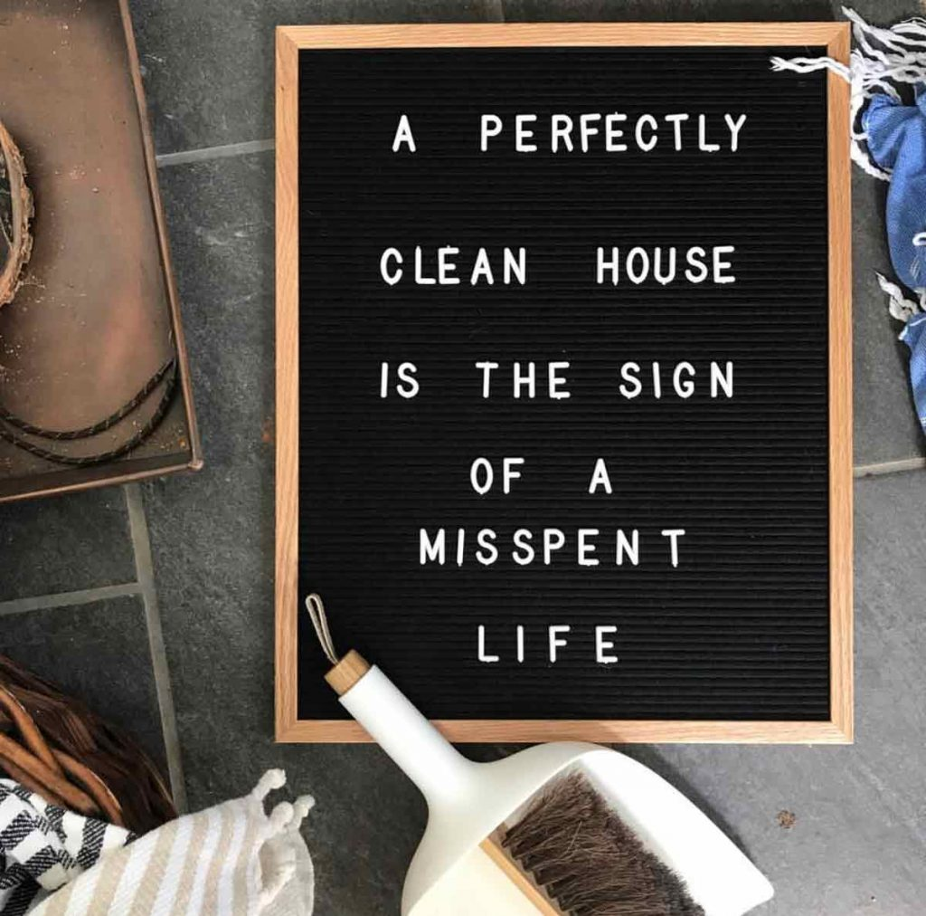 Perfectly Cleaned House via The Nester