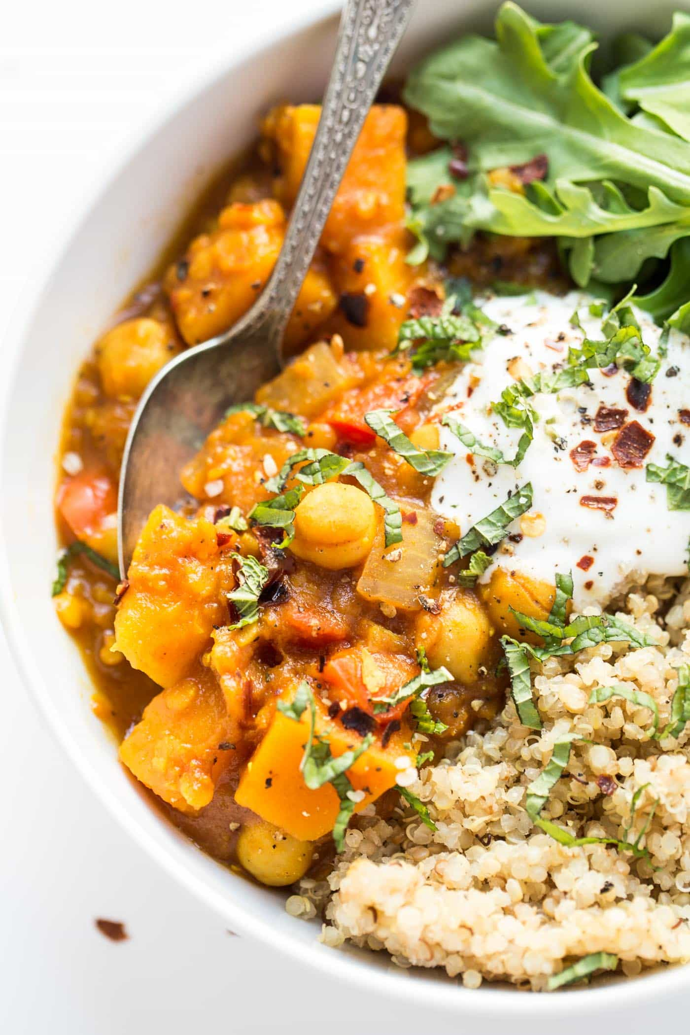 Slow Cooker Moroccan Chickpea Stew from simplyquinoa.com on foodiecrush.com