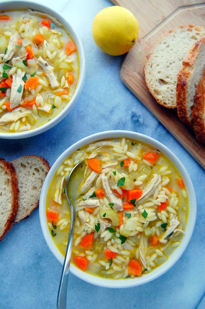 Turkey Orzo Soup from uprootkitchen.com on foodiecrush.com