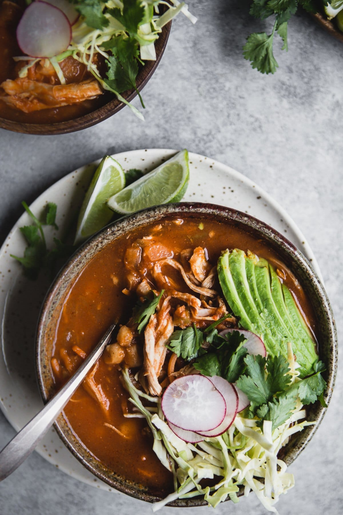 Turkey Pozole Rojo from themodernproper.com on foodiecrush.com