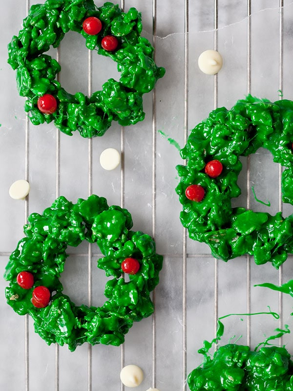 Christmas Wreath Cookies | foodiecrush.com