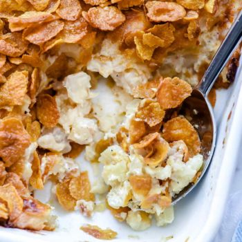 Heavenly Funeral Potatoes | foodiecrush.com #cheese #potatoes #augratin #recipes