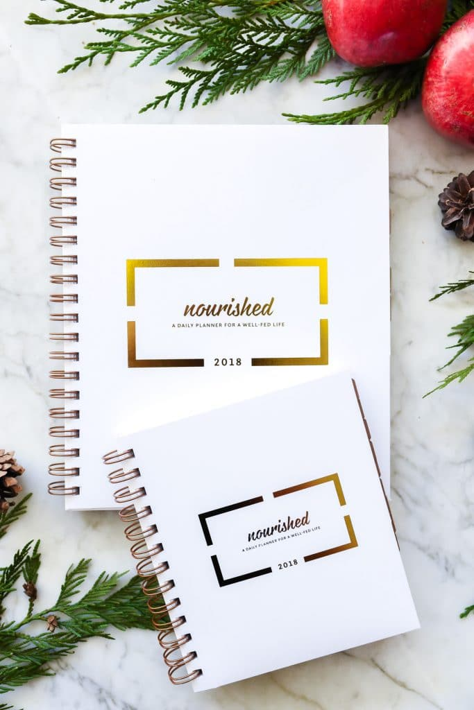 Nourished Planner 2018 printed day and meal planner | nourishedplanner.com