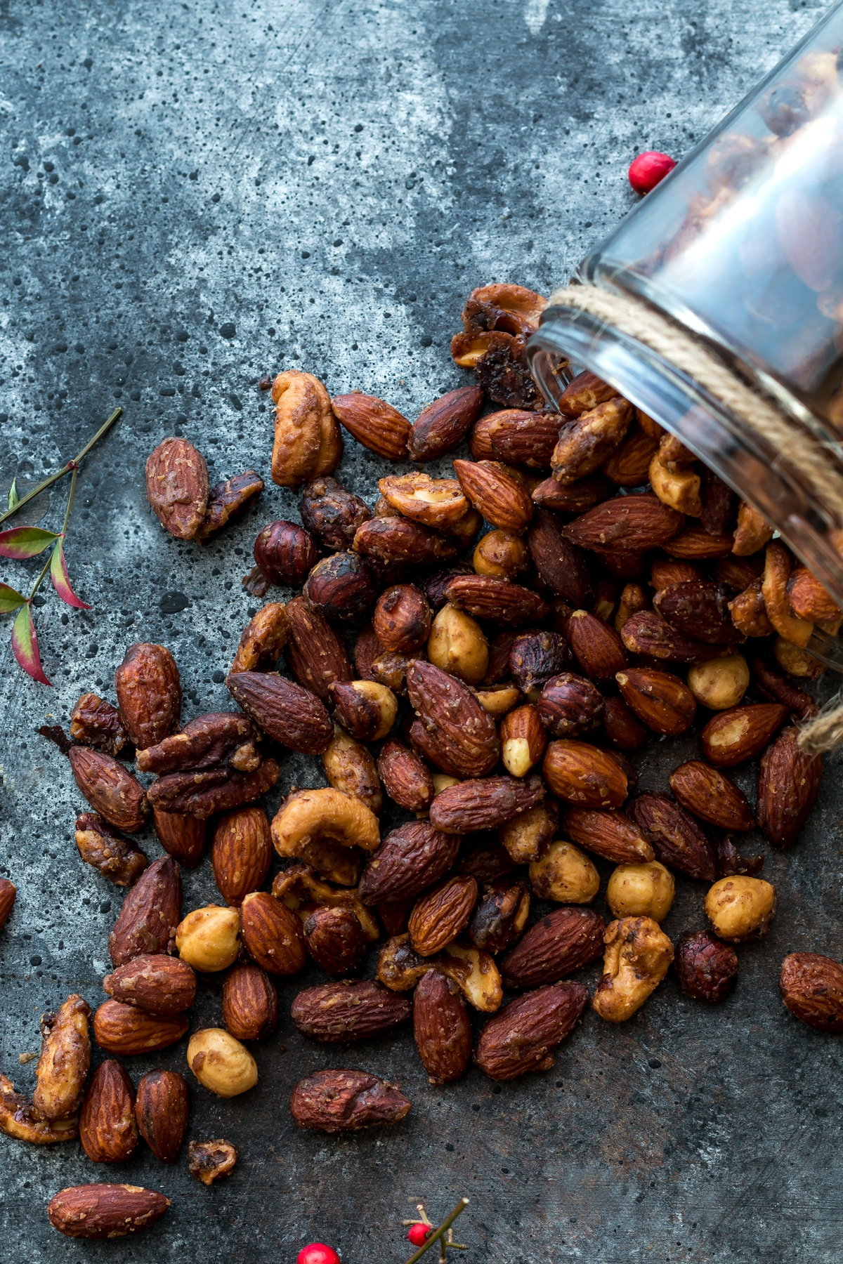 Slow Cooker Spiced Nuts from poshjournal.com on foodiecrush.com