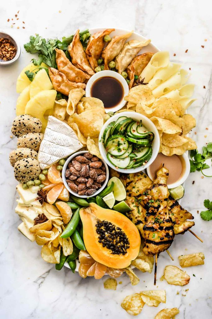 How to Make an Asian-Inspired Cheese Board | foodiecrush.com #cheeseboard #cheeseplate #asian #thai
