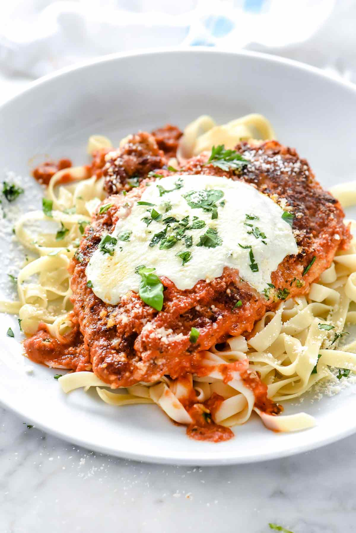 How to make homemade chicken parmesan foodiecrush how to make chicken parmesan foodiecrush chicken italian dinner forumfinder Choice Image