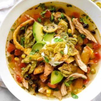 Chicken Tortilla Soup | foodiecrush.com #chicken #soup #tortilla #mexican #recipes