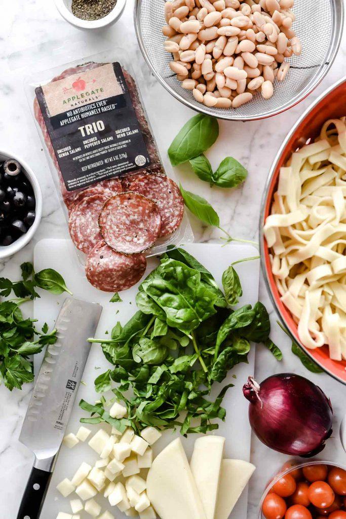 Tuscan Pasta Salad | foodiecrush.com #pasta #salad #recipes #salami #cheese
