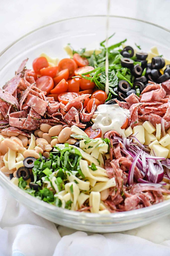 Tuscan Pasta Salad   foodiecrush.com #pasta #salad #recipes #salami #cheese
