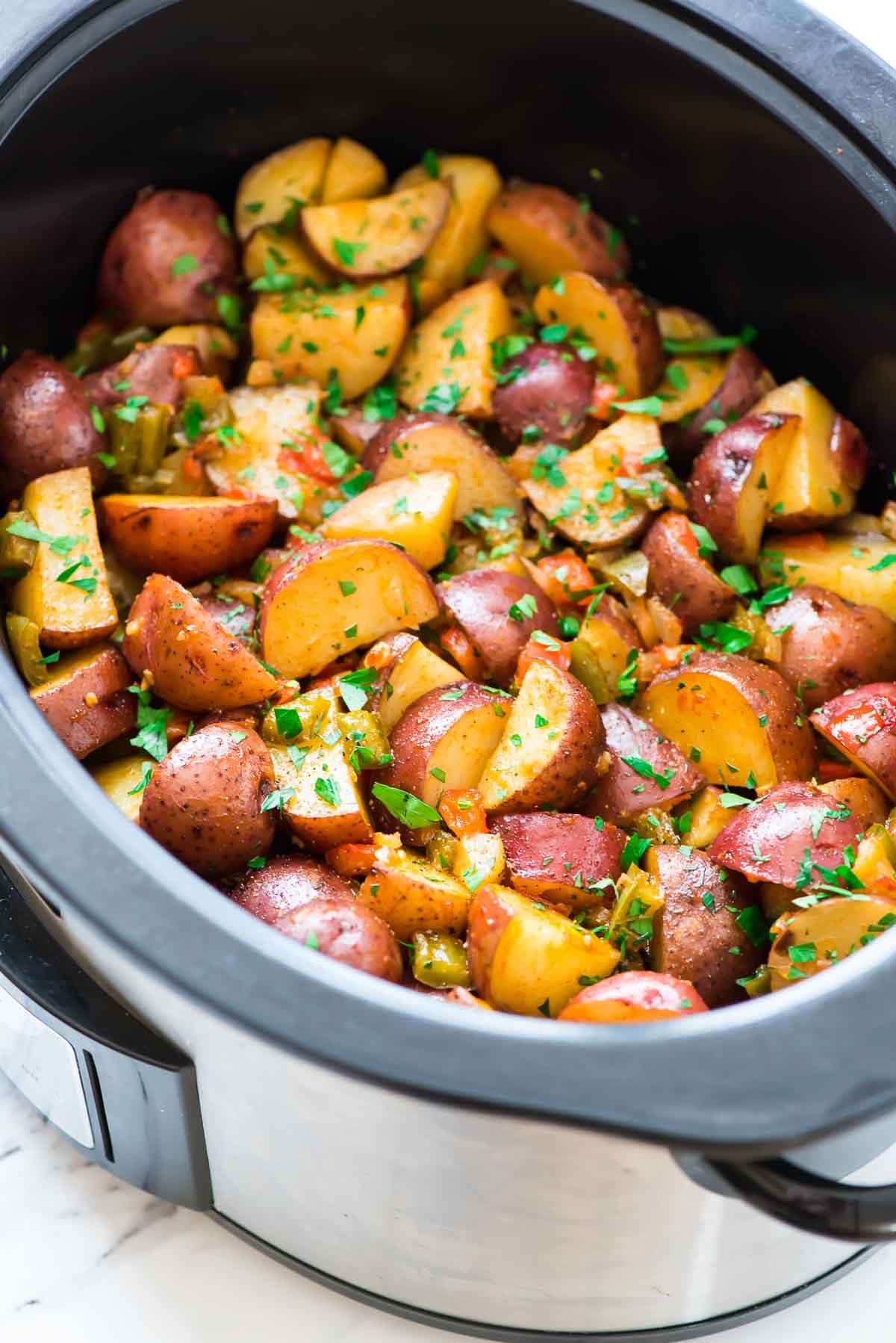 Crockpot Breakfast Potatoes from wellplated.com on foodiecrush.com