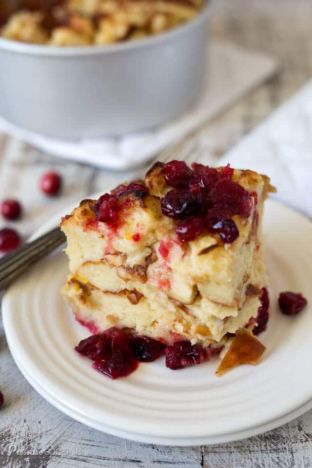 Pressure Cooker Cranberry Baked French Toast from pressurecookingtoday.com on foodiecrush.com