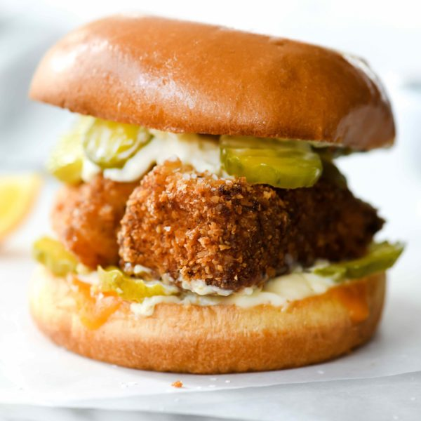 Healthier Fried Fish Sandwich | foodiecrush.com #fish #sandwich #healthy #fried
