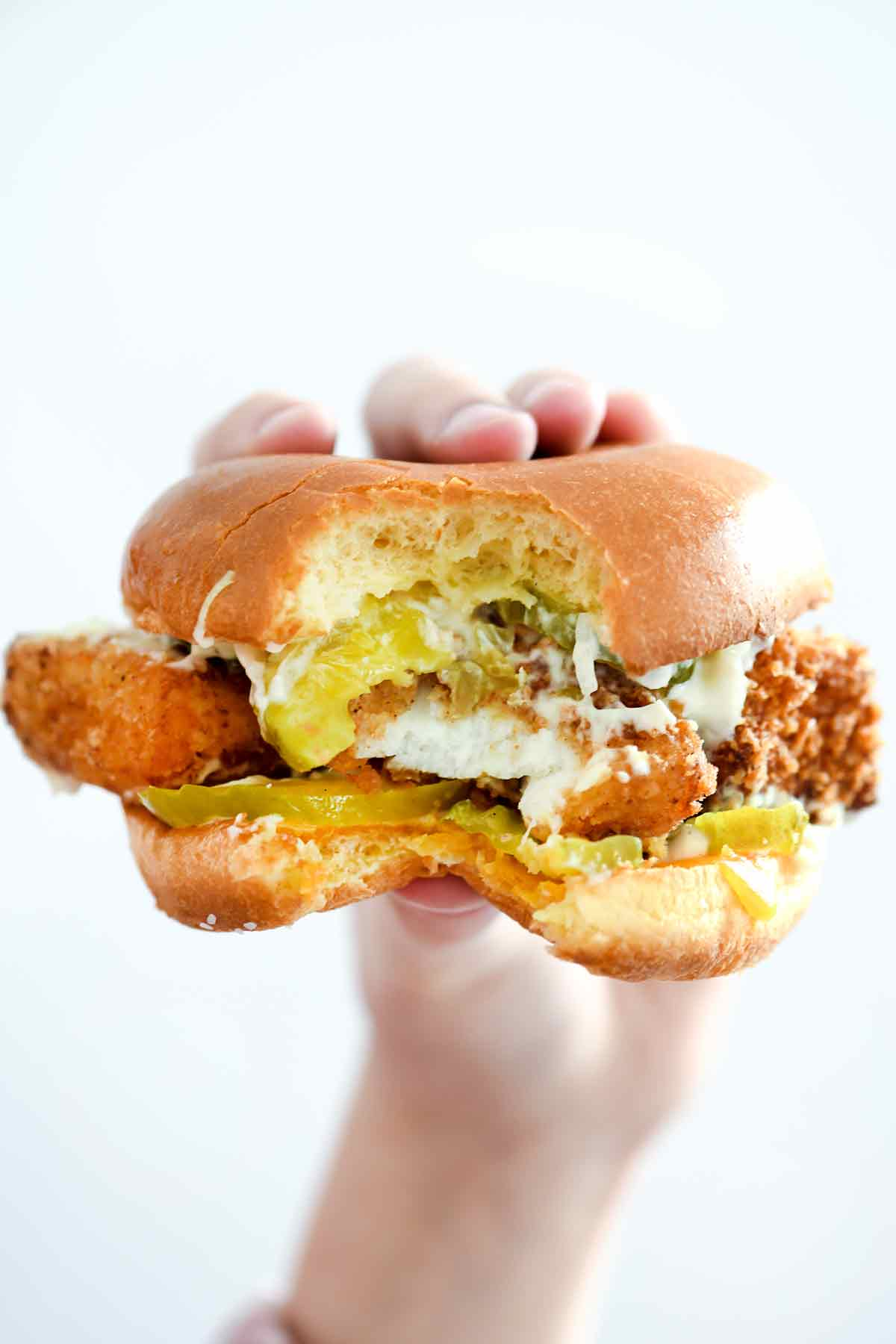 Healthier fried fish sandwich 30 minutes for What goes good with fried fish