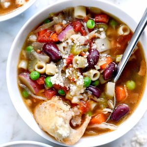 How to Make the Best Minestrone Soup | foodiecrush.com #soup #recipes #minestrone