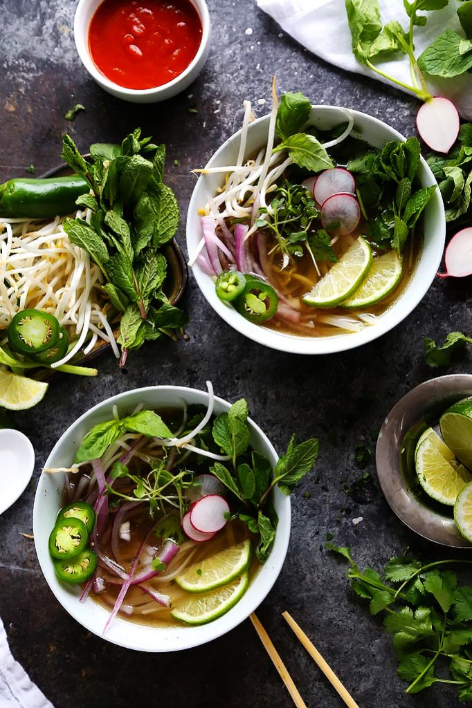 Instant Pot Chicken Pho from platingsandpairings.com on foodiecrush.com