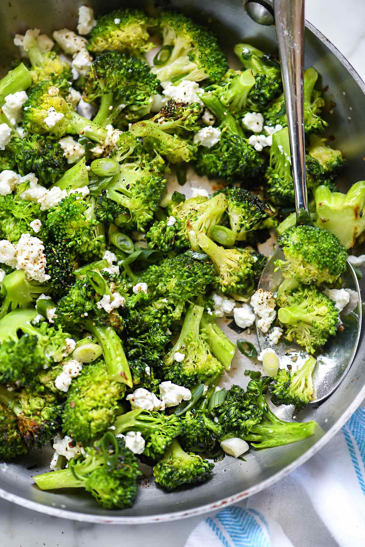 Easy Broccoli With Feta Cheese Foodiecrush Com