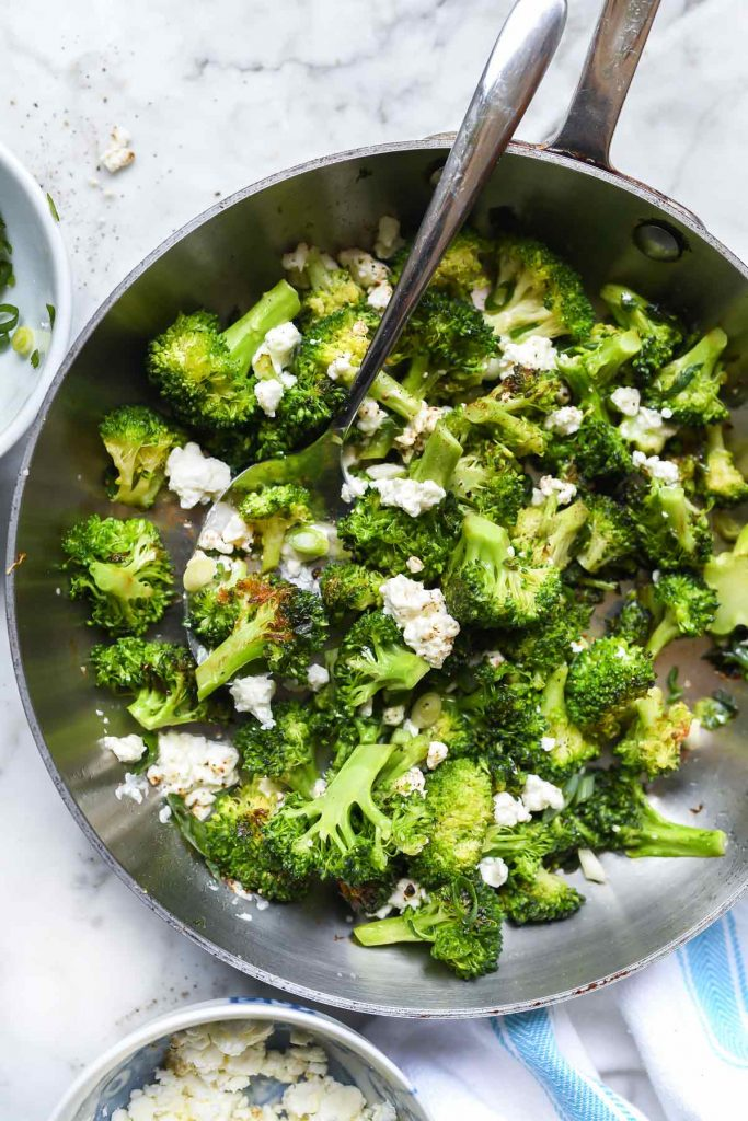Broccoli with Feta | foodiecrush.com