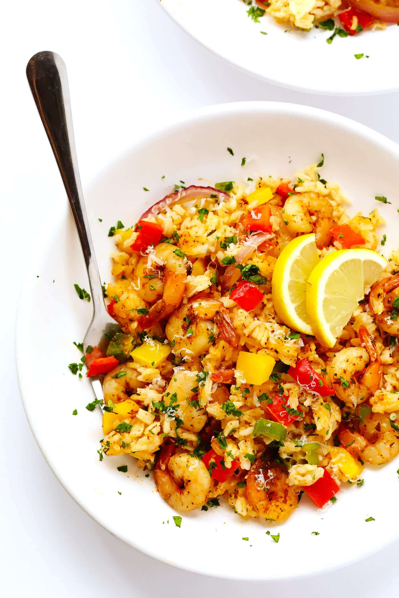 Cajun Shrimp Alfredo Casserole from gimmesomeoven.com on foodiecrush.com