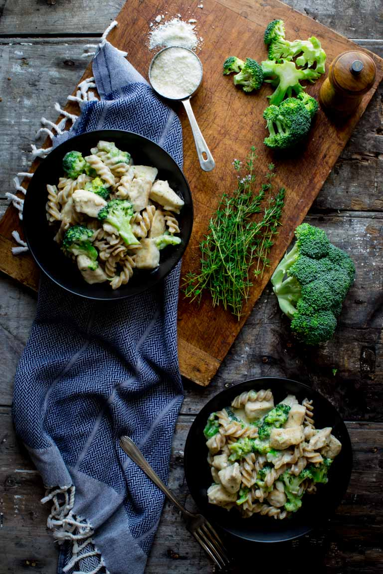 Light Chicken Broccoli Alfredo from healthyseasonalrecipes.com on foodiecrush.com