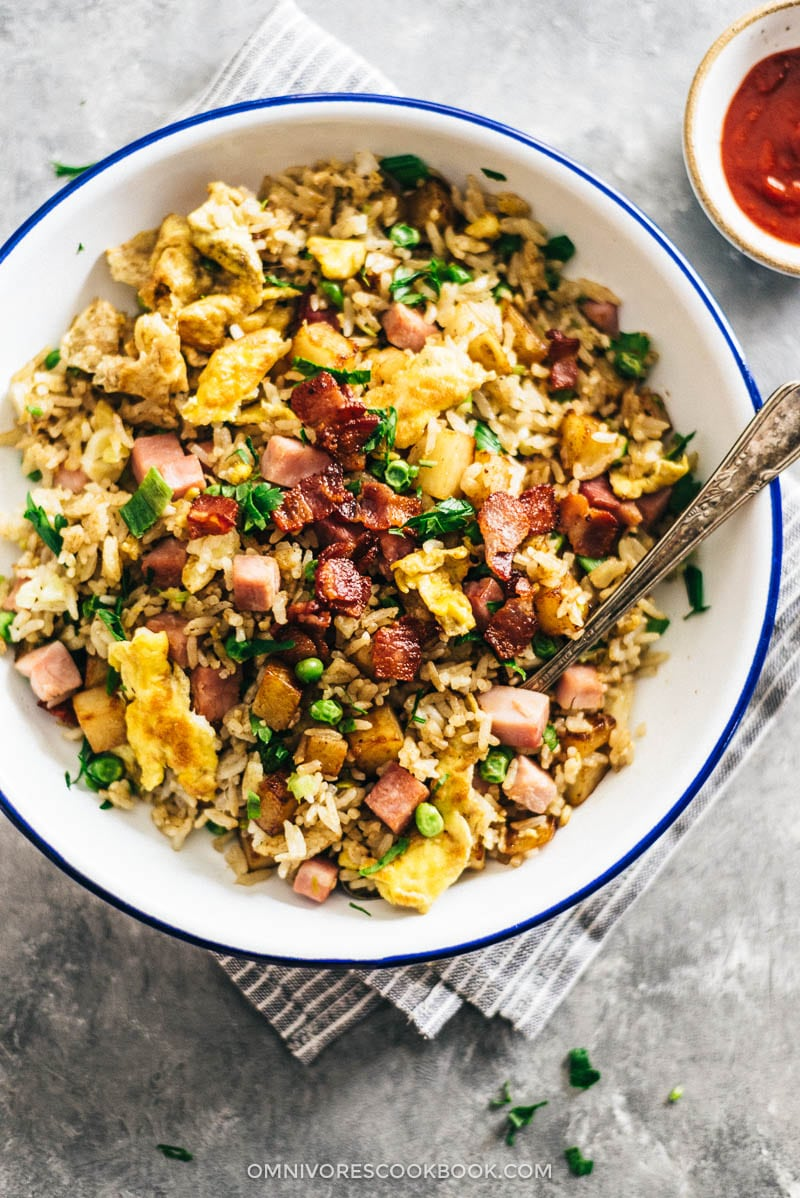 Potato Fried Rice from omnivorescookbook.com on foodiecrush.com