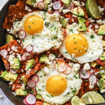 Easy Chilaquiles with Eggs Recipe | foodiecrush.com #chilaquiles #breakfast #brunch #mexican