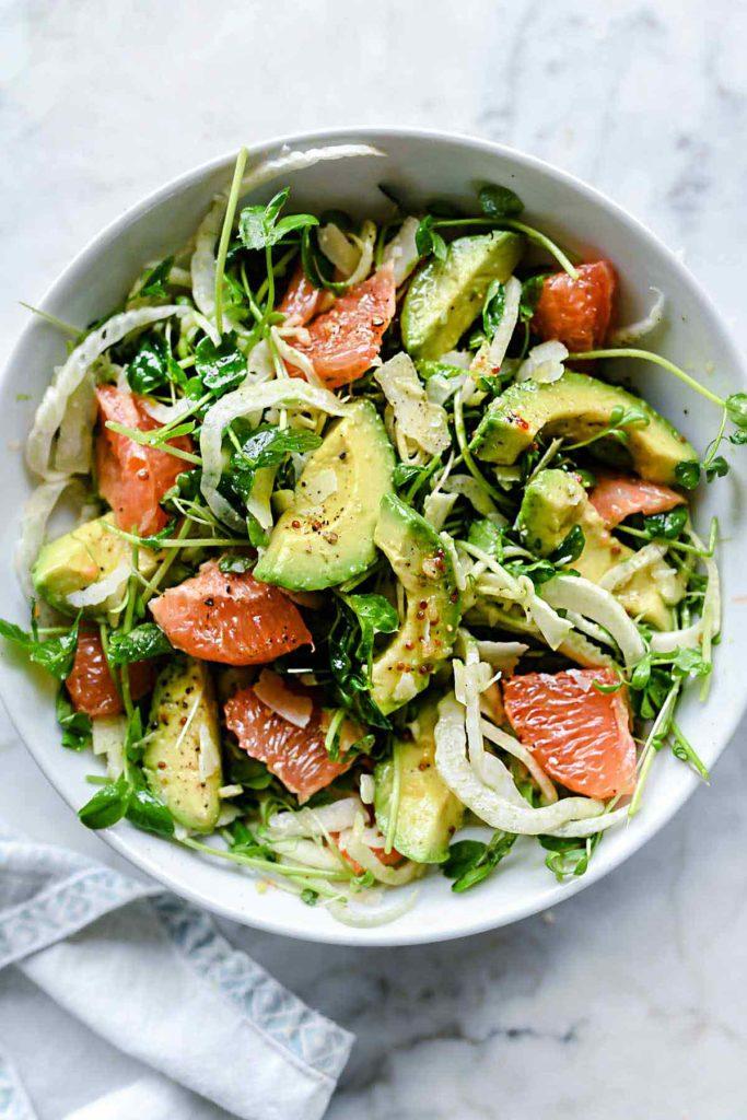 Grapefruit Avocado and Fennel Salad   foodiecrush.com #salad #grapefruit #avocado