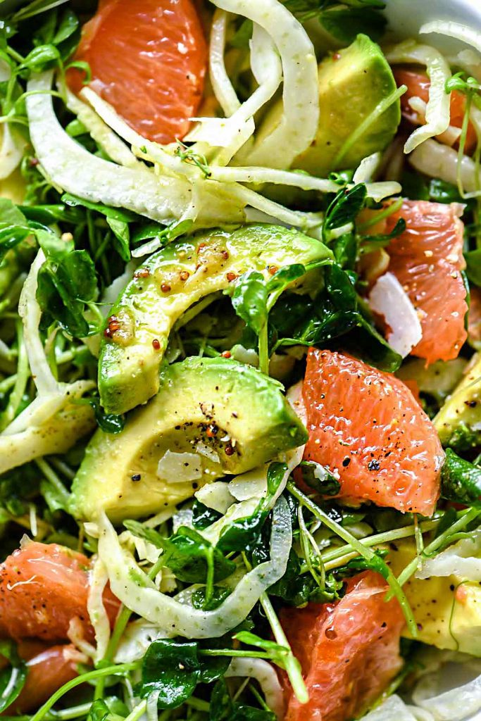 Grapefruit Avocado and Fennel Salad | foodiecrush.com #salad #grapefruit #avocado