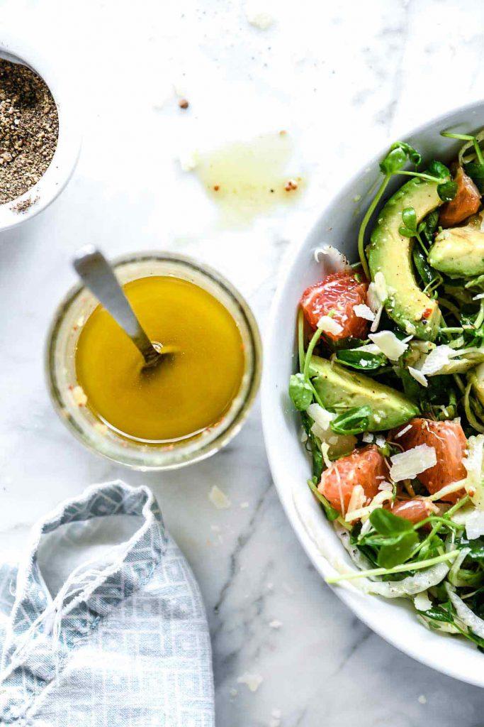 Grapefruit Avocado and Fennel Salad | foodiecrush.com #salad #grapefruit #avocado