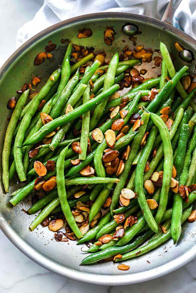 Green Beans with Brown Butter Almonds | foodiecrush.com #beans #sidedish #recipes